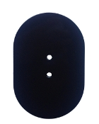 "4""x6"" Flat Oval Hand Hole Cover-Std. Install - DARK BRONZE"